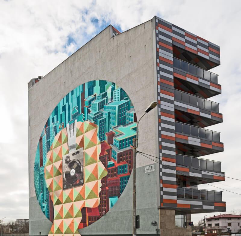 cel mai mare grafitti romania